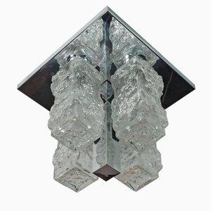 Lampada da soffitto a incasso vintage in vetro di Hillebrand