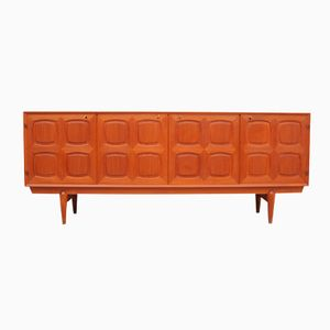 Norwegian Graphic Teak Sideboard by Alf Aarseth, Rastad & Relling for Gustav Bahus, 1960s