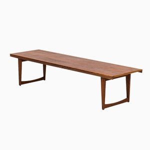Swedish Teak & Oak Coffee Table or Bench by Yngve Ekström for Westbergs, 1950s