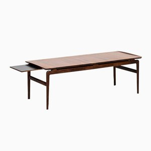 Danish Rosewood & Black Formica Coffee Table by Peter Hvidt & Orla Mølgaard-Nielsen for France & Son, 1957