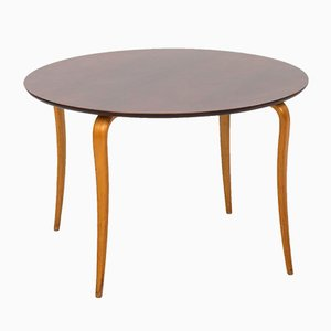 Swedish Beech & Mahogany Coffee Table from Sture B. Ohlsson, 1950s