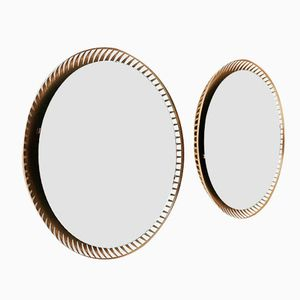 Round Backlit Mirrors, 1960s, Set of 2