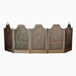 Vintage Venetian Chinoiserie Folding Fire Screen