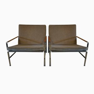 German FK 6720 Chromed Lounge Chairs by Fabricius & Kastholm for Kill International, 1960s