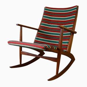 Danish Atomic 97 Rocking Chair by Holger Georg Jensen for Kubus, 1950s