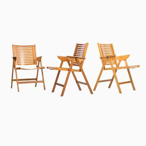 Rex Foldable Armchairs by Niko Kralj for Loewenstein, Set of 3