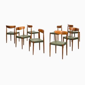 Mid-Century Dining Chairs by Knud Færch, Set of 8