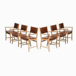 Mid-Century Armchairs by Kai Lyngfeldt Larsen, Set of 6