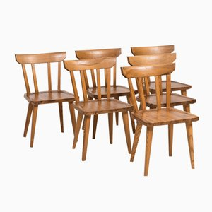 Mid-Century Dining Chairs by Carl Malmsten, Set of 6