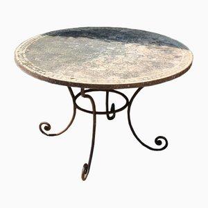 Tavolo da giardino vintage in terracotta