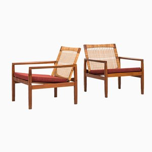 Model 519 Easy Chairs by Hans Olsen for Juul Kristensen, Set of 2
