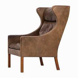 2204 Wingback Lounge Chair by Børge Mogensen for Fredericia Stolefabrik