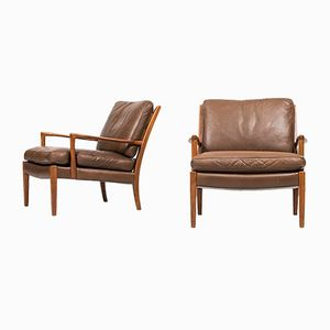 Löven Easy Chairs by Arne Norell for Arne Norell AB, Set of 2
