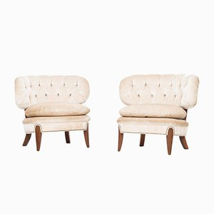 Swedish Easy Chairs by Otto Schulz for Boet, 1940s, Set of 2