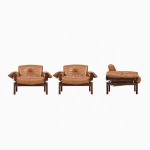 Brasilianische Sessel von Percival Lafer, 1970er, 3er Set