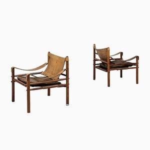 Sirocco Easy Chairs by Arne Norell for Aneby, 1960s, Set of 2
