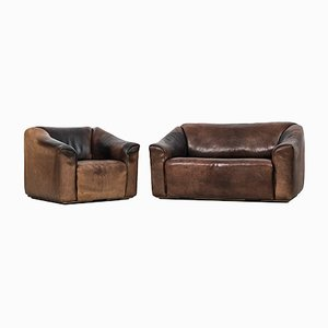 Leather DS-47 Living Room Set from de Sede, 1970s