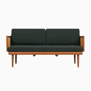 Dark Green FD 451 Daybed by Peter Hvidt & Orla Mølgaard-Nielsen for France & Søn