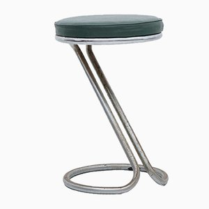 Tubular Steel Stool from DS Stålrörsmöbler, 1940s