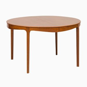Mahogany Dining Table by Ole Wanscher for A.J. Iversen, 1940s