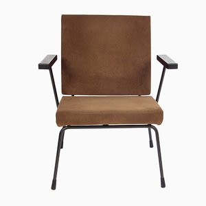Vintage Brown Armchair by Wim Rietveld for Gispen