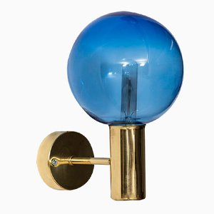 Swedish Mid-Century V-149 Blue Wall Lamp by Hans-Agne Jakobsson