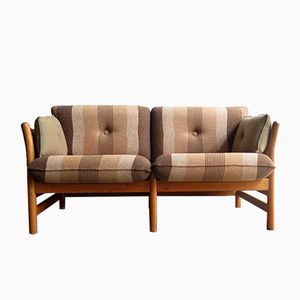 Vintage 2-Seater Oak Sofa from Arne Norell