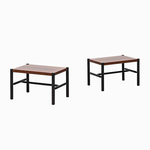 Rosewood & Black Lacquered Side Tables by Arne Norell, 1960s, Set of 2