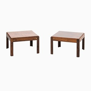 Plexus Rosewood Side Tables by Illum Wikkelsø for CFC Silkeborg, Set of 2