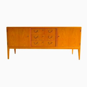 Danish Credenza with Brass Fittings, 1940s