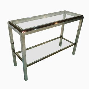 Chromed Console Table by Jean Charles, 1980s