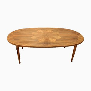 Mid-Century Danish Coffee Table with Marquetry, 1960s