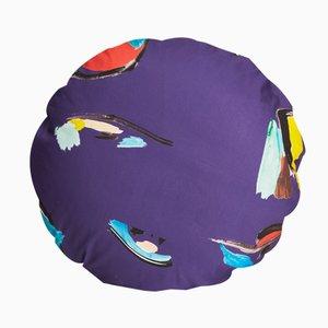 Violettes Pod Circle Kissen von Naomi Clark für Fort Makers