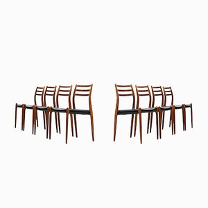 Dining Chairs by Niels O. Møller for J.L Møllers Møbelfabrik, Set of 8