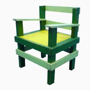 Chaise d'Enfant Vintage Style Bauhaus en Bois