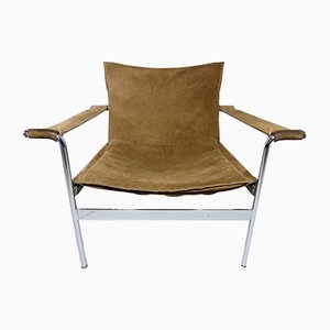 German D99 Brown Suede Leather Lounge Chair by Hans Könecke for Tecta, 1965