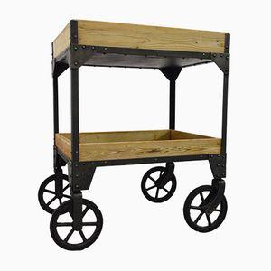 Französischer Vintage Werkstatt Rollwagen