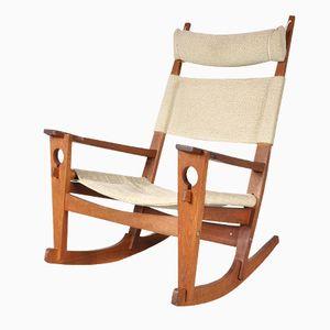 Rocking Chair Keyhole par Hans J. Wegner pour Getama, Danemark, 1960s