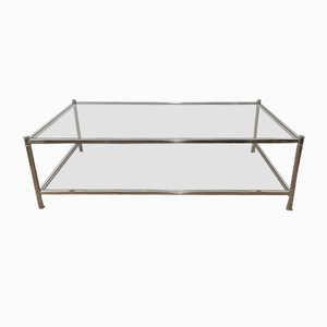 Large Chrome Coffee Table from Roche Bobois, 1970s