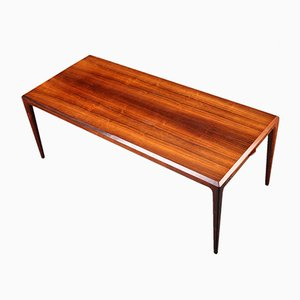 Extendable XL Mid-Century Brazilian Rosewood Coffee Table by Johannes Andersen for CFC Silkeborg