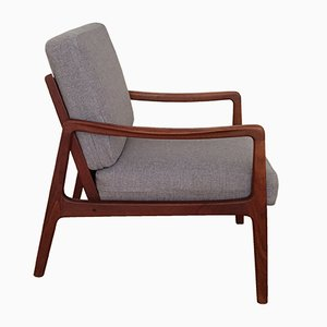 Mid-Century FD109 Teak Easy Lounge Chair by Ole Wanscher for France & Søn