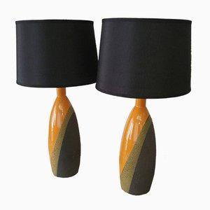 Italienische Tischlampen von Ettore Sottsass für Bitossi, 1960er, 2er Set