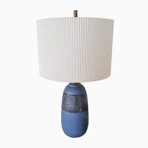 Kleine Blaue Keramik Lampe von Nancy Wickham (Boyd)