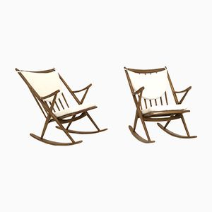 Rocking Chairs Mid-Century par Frank Reenskaug pour Bramin, Set de 2
