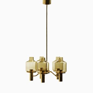 Smoked Glass Chandelier by Hans-Agne Jakobsson for Markaryd, 1960s