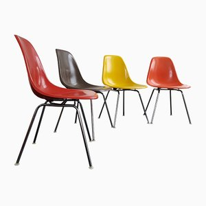DSX Fiberglass Chairs by Charles & Ray Eames for Herman Miller/Vitra, Set of 4