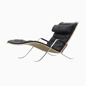 Chaise longue Grasshopper di Fabricius Kastholm per Kill International, anni '50