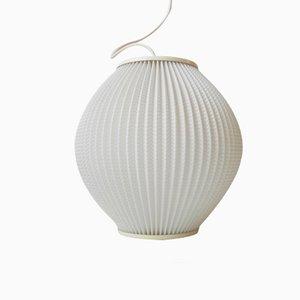Lampada a sospensione a forma di alveare in acrilico bianco di Svend Aage Holm-Sorensen, anni '50