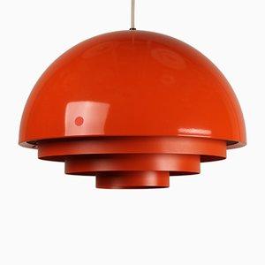Lampada Milieu arancione di Jo Hammerborg per Fog & Mørup, Danimarca, anni '60