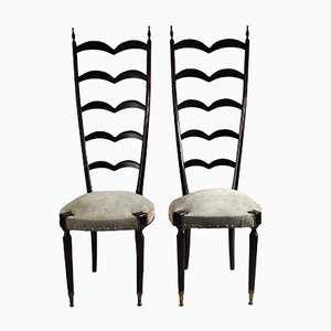Modern Ladder Back Chairs by Paolo Buffa, 1950s, Set of 2
